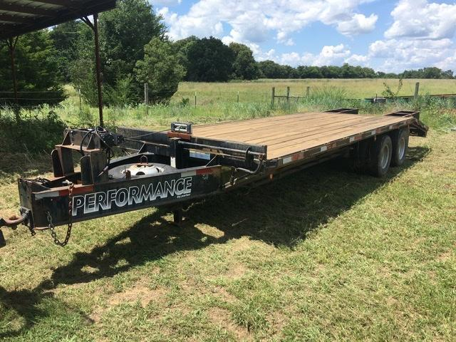 Parker Performance 8 x 30 Pintle Hook Flatbed Trailer - 22000 lbs GVWR