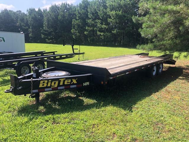 2015 Big Tex Flatbed Single Wheel Tandom Axle Pintle Trailer
