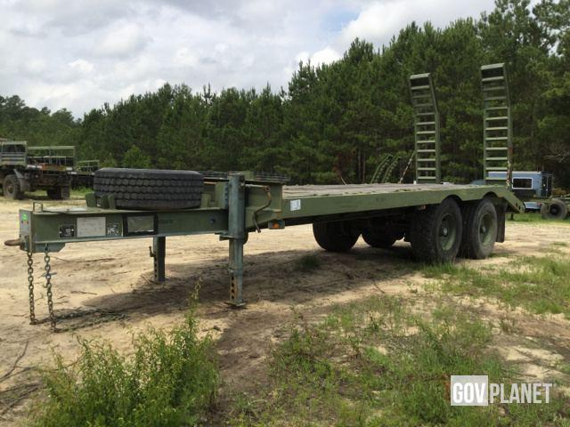 2012 Globe 20K Military Grade Flatbed / Equipment Trailer w/ Air Brakes