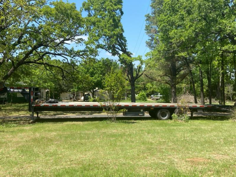"""2015 Texas Pride 102"""" x 35' Flatbed Trailer w/ 5' Dovetail and Ramps"""