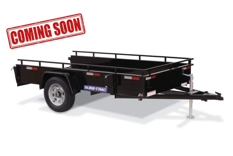 COMING SOON 2021 Sure-Trac Landscape High Side Utility Single Axle Trailer