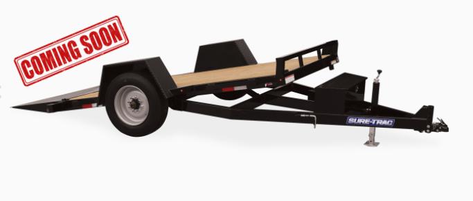 COMING SOON 2021 Sure-Trac Equipment Single Axle Tilt Trailer