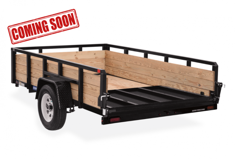 COMING SOON 2021 Sure-Trac Landscape Tube Top 3-Board High Side Trailer