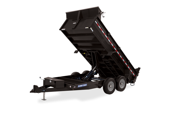 2021 Sure-Trac 82 IN x 14 HD Low Profile Scissor Dump Trailer