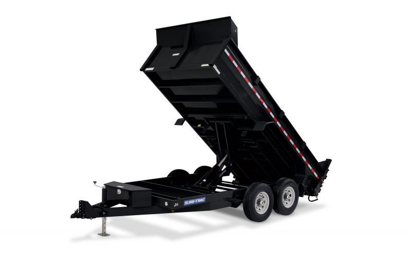2021 Sure-Trac 82 IN x 14 HD Telescopic Dump Trailer