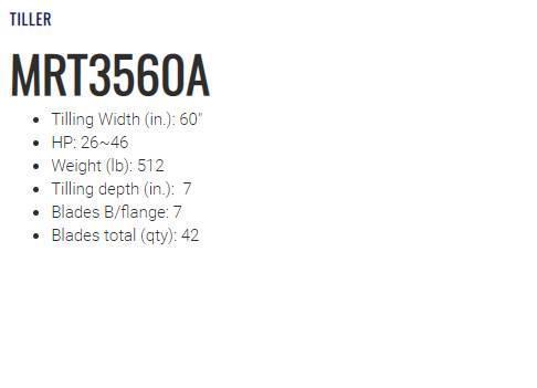 2021 LS Tiller MRT32560A