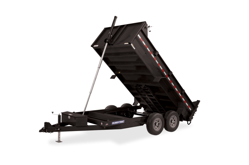 2021 Sure-Trac 82 IN x 14 HD Low Profile Telescopic Dump Trailer