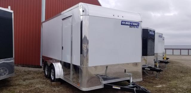 2020 Sure-Trac 7.5 x 14 Enclosed Moto Pro Bullnose TA
