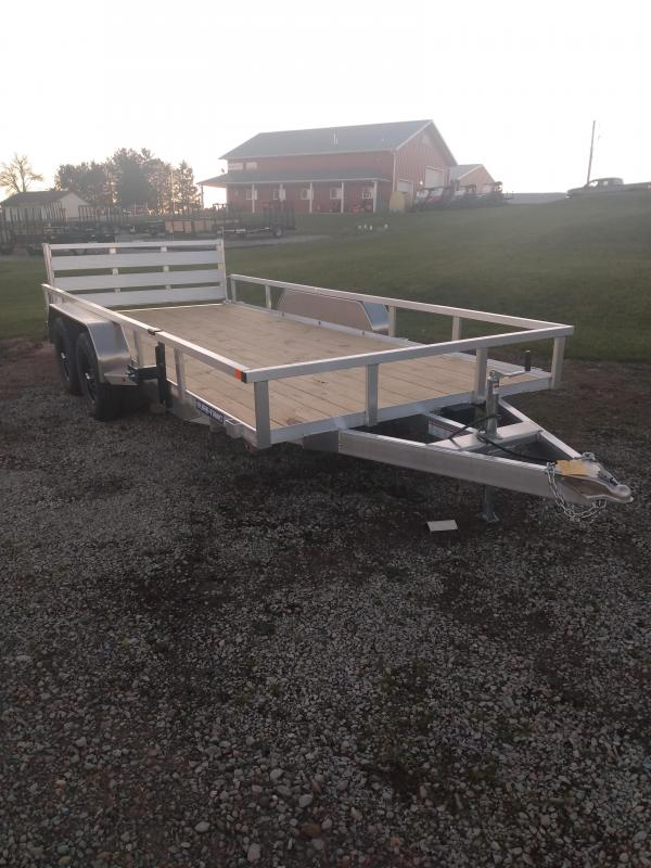 2021 Sure-Trac 7x16 Tube Top Aluminum Utility Trailer