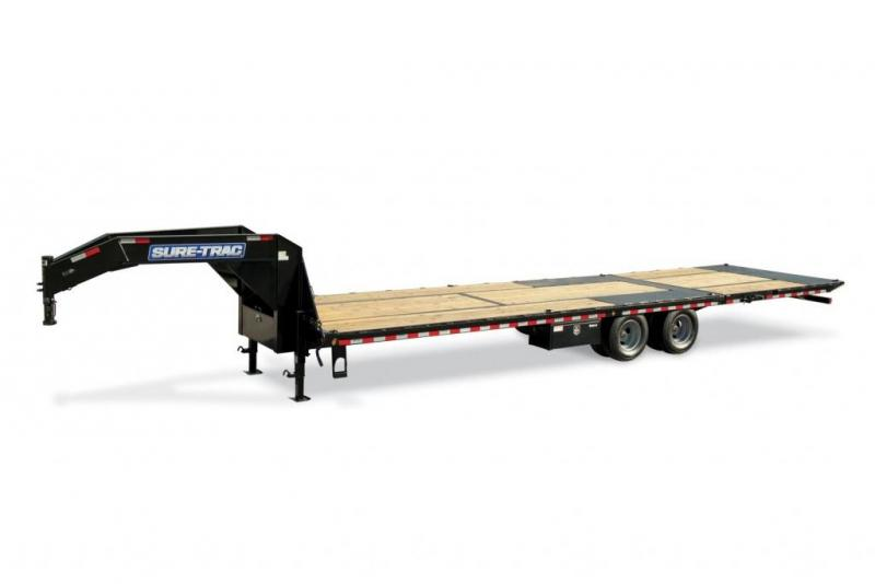 2020 Sure-Trac 8.5 x 21 + 5 Goose Neck 17.6k Equipment Trailer