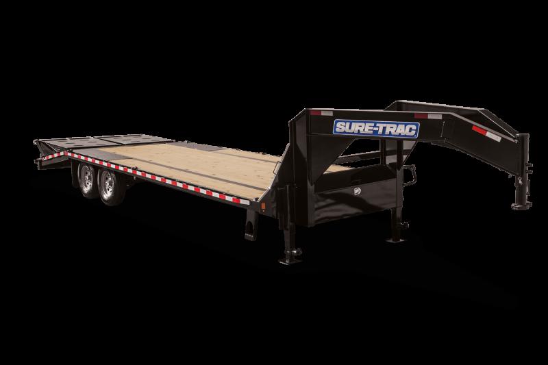 2019 Sure-Trac 8.5 x 21 + 5 Goose Neck 17.6k Equipment Trailer