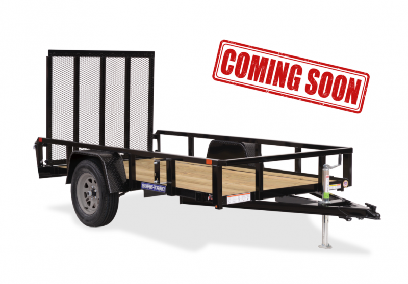 COMING SOON 2021 Sure-Trac Landscape Tube Top Single Axle Trailer