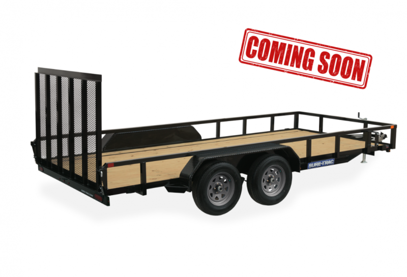COMING SOON 2021 Sure-Trac Landscape Tube Top Tandem Axle Trailer
