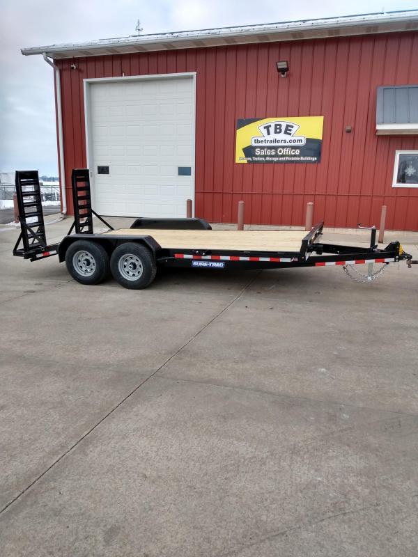 2021 Sure-Trac 7 x 16 (14+2) Equipment Trailer  14K