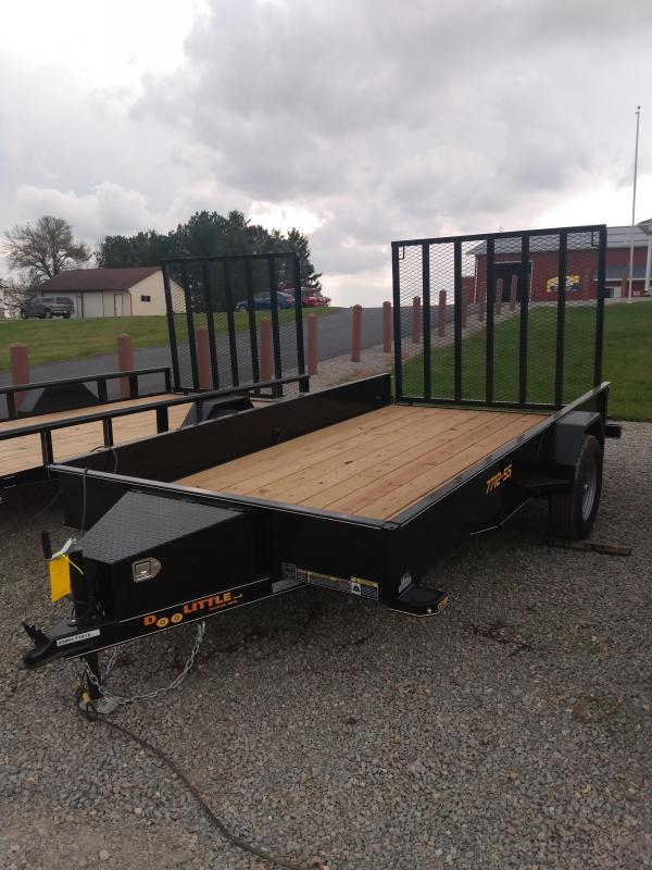 2021 Doolittle Trailer Mfg Doolittle Steel Side 77x12 Utility Trailer