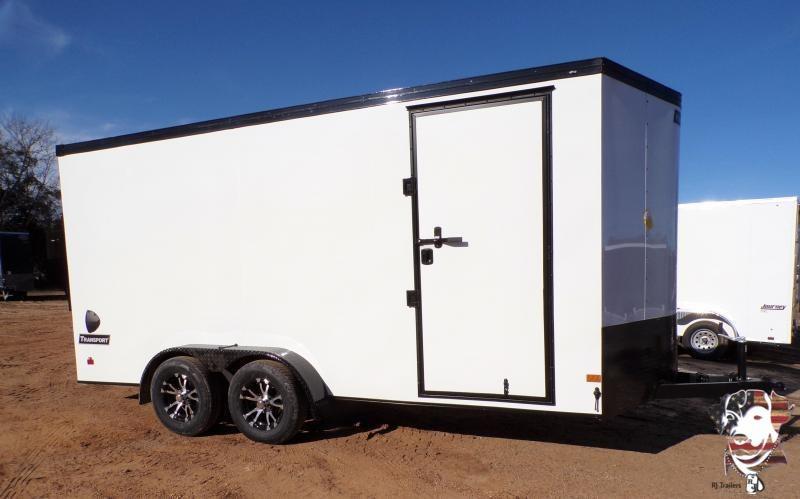 2021 Haulmark 7 x 16 Transport V-Nose Enclosed Cargo Trailer