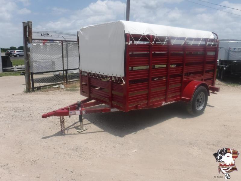 2019 TexLine 5 x 10 Mini Stock Livestock Trailer