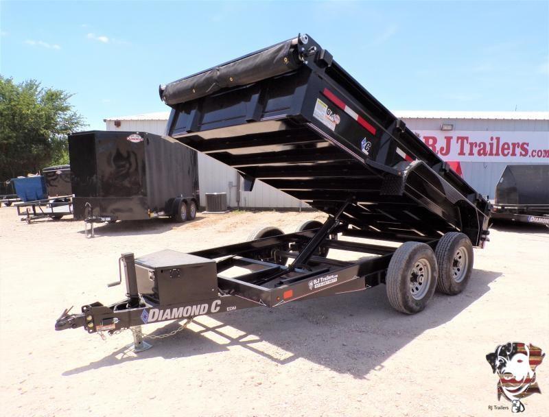 2021 Diamond C Trailers 77 x 12 EDM Dump Trailer