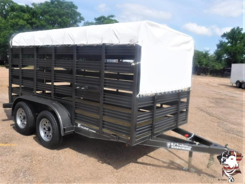 2020 TexLine 6 x 12 Mini Stock Livestock Trailer