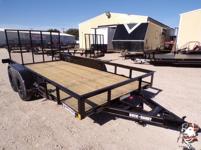 2021 Buck Dandy 77 x 14 Big Buck TA Utility Trailer