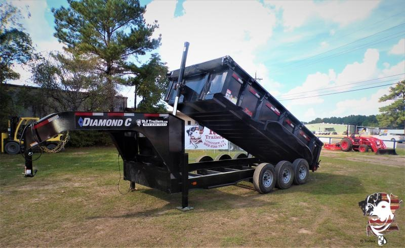 2021 Diamond C Trailers 82 x 16 LPT307 Gooseneck Dump Trailer