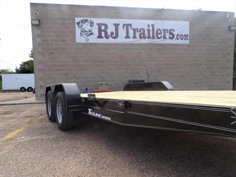 2021 TexLine 83 x 18 Deluxe Car Hauler / Racing Trailer