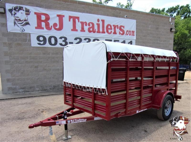2020 TexLine 5x 10 Mini Stock Livestock Trailer
