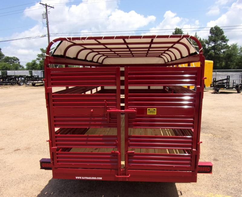 2020 TexLine 5x 10 Mini Stock Livestock Trailer