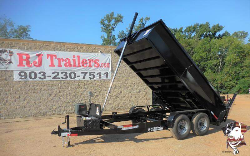 2021 Texas Pride Trailers 84 x 16 BumperPull Telescopic Dump Trailer