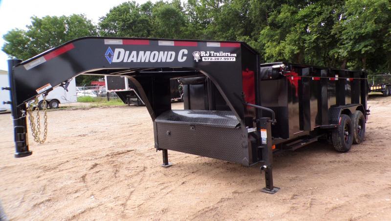 2021 Diamond C  82 x 14 LPT Telescopic Gooseneck Dump Trailer