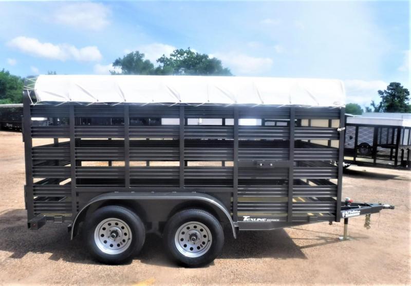 2021 TexLine 6 x 12 Mini Stock Livestock Trailer