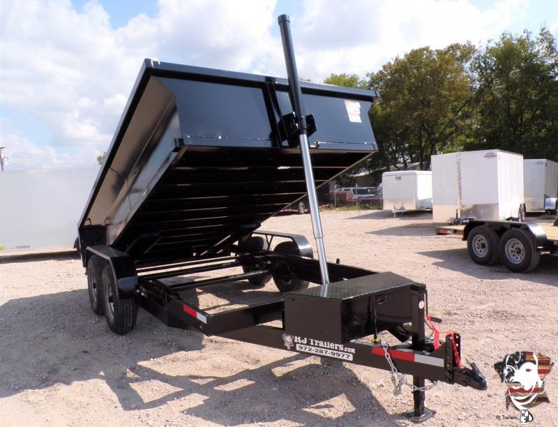 2020 Texas Pride Trailers 84 x 14 BumperPull Telescopic Dump Trailer