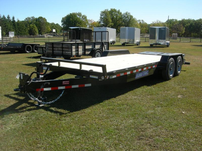 2021 Sure-Trac ST82173URET-B-160 Equipment Trailer