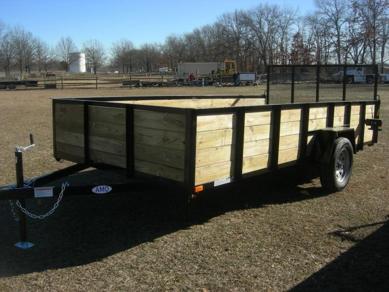2021 American Manufacturing Operations (AMO) US82x14HS Utility Trailer