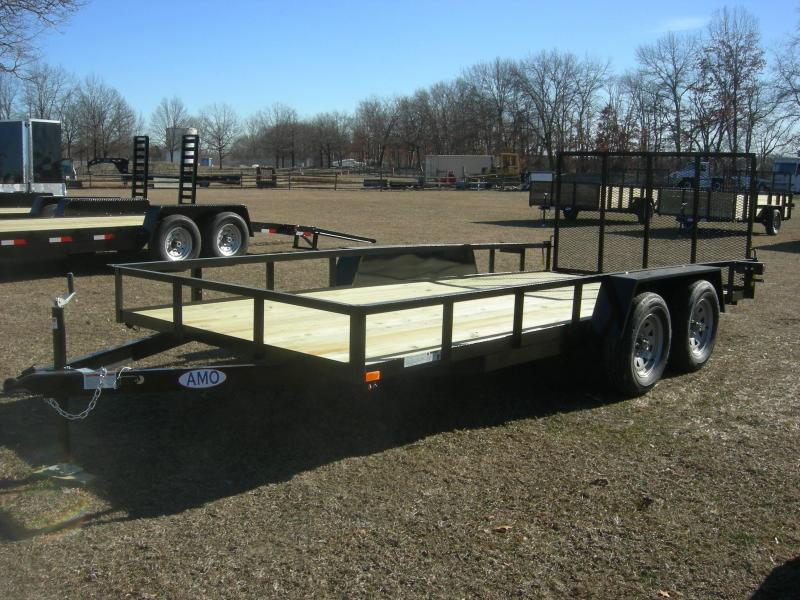 2021 American Manufacturing Operations (AMO) UT82x16 Landscape Equipment Trailer