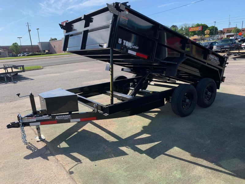 "2021 Anderson Manufacturing 80""x12' 5T Dump Trailer"