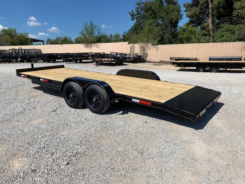 2021 MP Custom 22 X 83 TANDEM AXLE WOOD FLOOR CAR HAULER