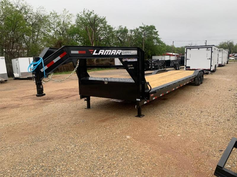 "2021 LAMAR HD 36' X 102"" GOOSENECK EQUIPMENT HAULER"