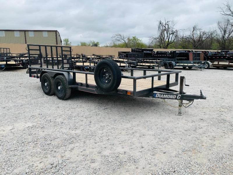 "USED 2021 Diamond C Trailers TUT 18' X 82"" Utility Trailer"