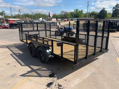 "2021 LION MFG 16' X 83"" TANDEM AXLE LAWN TRAILER"