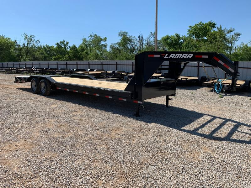 "2021 Lamar Trailers H8 28' X 102"" GOOSENECK EQUIPMENT HAULER"