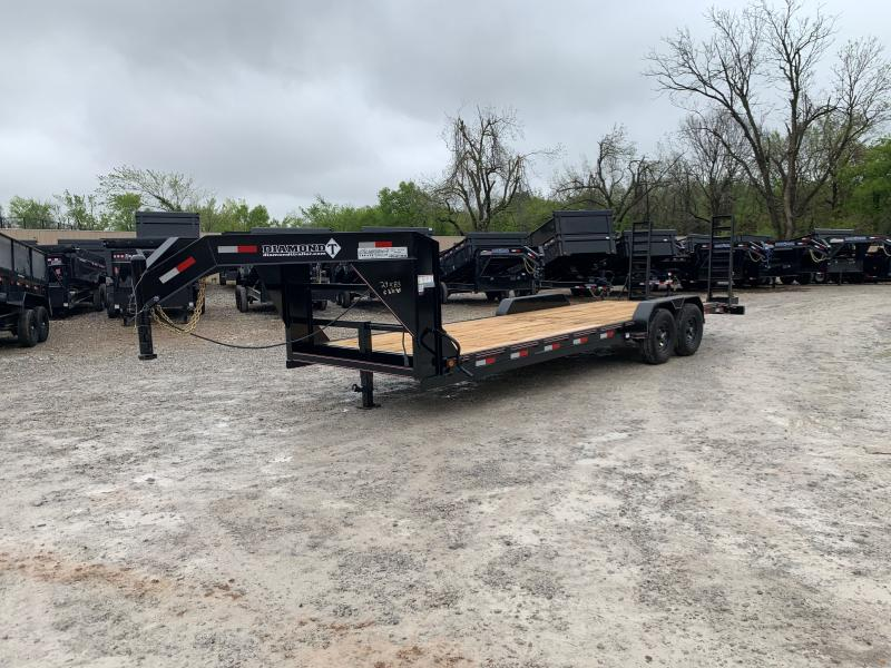 "2021 DIAMOND T SKP 24' X 83"" TANDEM AXLE GOOSENECK SKID PRO EQUIPMENT TRAILER"