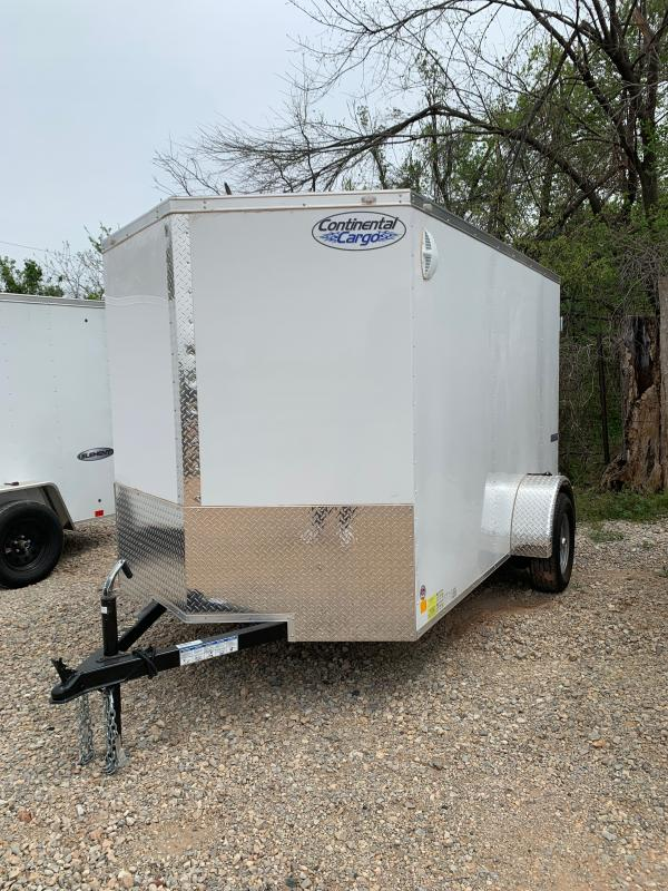 2021 CONTINENTAL CARGO TXEHW 6' X 10' SINGLE AXLE ENCLOSED TRAILER