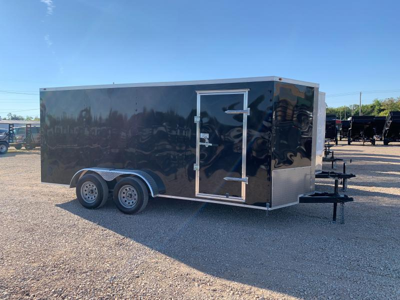 USED 2021 POWER LINE CARGO 7 X 16 TANDEM AXLE ENCLOSED
