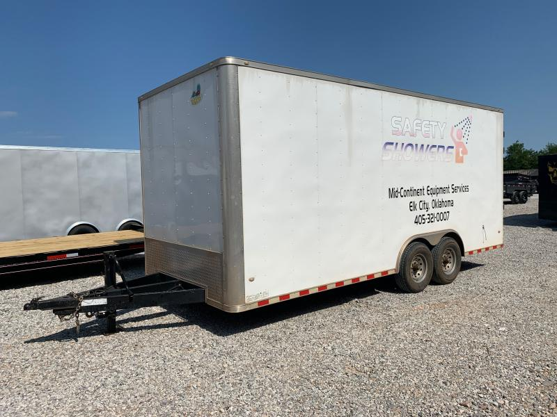 USED 2018 Covered Wagon 8.5 X 20 TANDEM ENCLOSED TRAILER