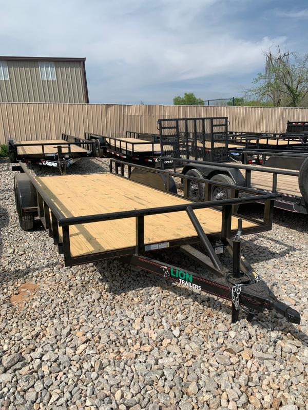 """2021 Lion 18' X 83"""" PIPE TOP TANDEM AXLE UTILITY"""