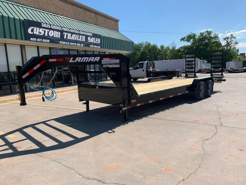 "2021 Lamar Trailers H8 24' X 83"" GOOSENECK EQUIPMENT HAULER"