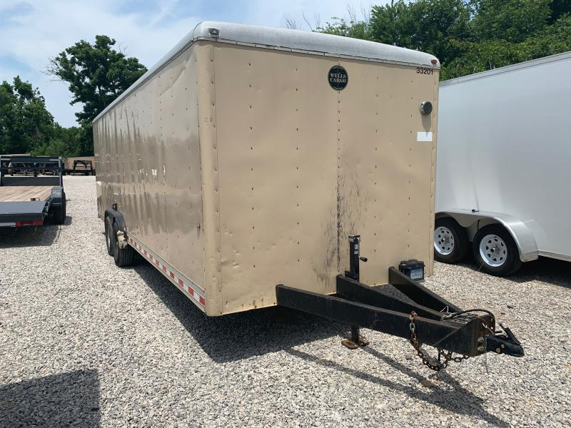 USED 2010 Wells Cargo 8 X 24 TANDEM AXLE ENCLOSED