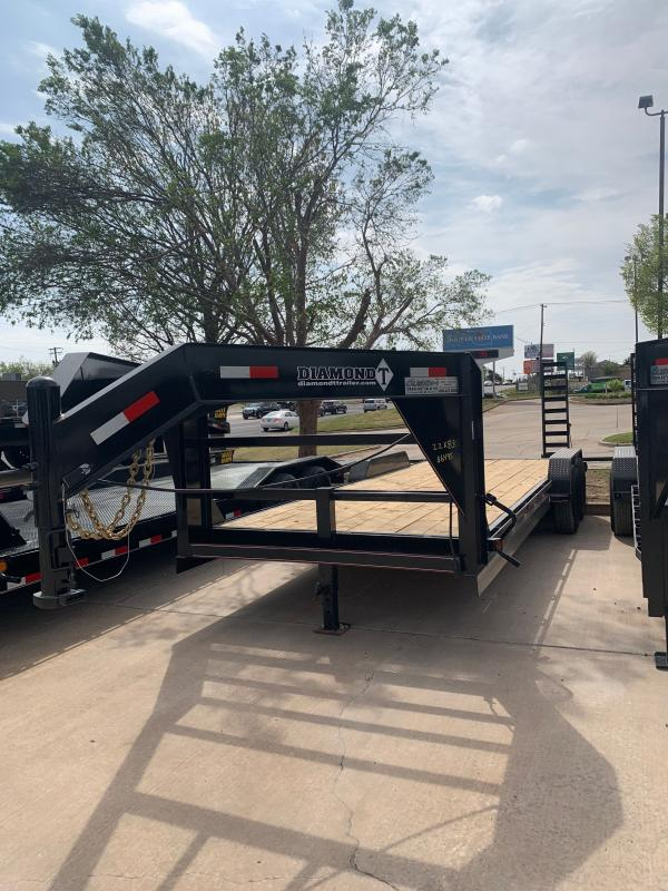 "2021 Diamond T Trailers SKP 22' X 83"" TANDEM AXLE GOOSENECK SKID PRO Equipment Trailer"