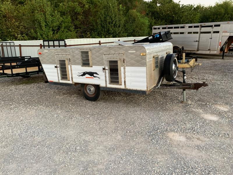 USED 4 CRATE GREYHOUND BUMPER PULL TRAILER